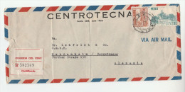 1953 REGISTERED Air Mail PERU Stamps COVER To Germany - Peru