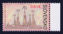 """2014 SLOVACCHIA """"CENTENARIO PRIMA GUERRA MONDIALE / WORLD WAR I VICTIMS"""" SINGOLO MNH - Slovacchia"""