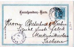 CARTOLINA POSTALE -TEPLIZ-19-11-1902 X MARKUENKIRCHEN-SACHSEN - Tchécoslovaquie