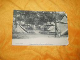 CARTE POSTALE ANCIENNE CIRCULEE DE 1915. / CAMP DE GER.- UNE RUE DANS LE CAMPEMENT / CACHETS. - France