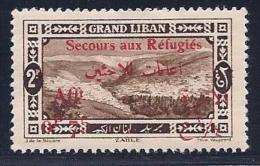 Lebanon, Scott # B7 Mint Hinged Semi-Postal, Zahle, Surcharged, 1926, Small Thin - Lebanon