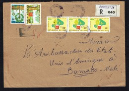 Lettre Domestique Recommandée Sebé 515fr, Foyers Améliorés 100fr, 25fr X3 - Mali (1959-...)