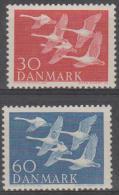 DENMARK - 1956 Swans. Scott 361-362. Mint Hinged * - Unused Stamps