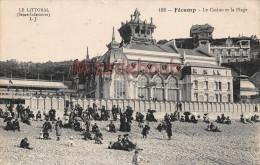 76 - FECAMP - Le Casino Et La Plage - 1918  - 2 Scans - Fécamp