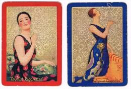 Dos de cartes � jouer c1930, Loyalist Cigarettes - Art Deco - Single playing cards