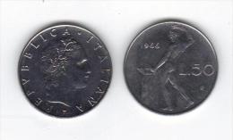 RedG - REPUBBLICA , 50 Lire Del 1966 - 1946-… : Repubblica