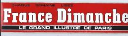 Journal/France Dimanche /Le Grand Illustre De Paris /  Années 1980     ACOL3 - Stickers