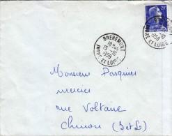 1958 - CàD De Brehemont En Indre-et-Loire - FRANCO DE PORT - 1921-1960: Période Moderne