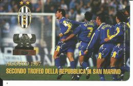 SCH203 - S. MARINO - SECONDO TROFEO DELLA REPUBBLICA DI S. MARINO JUVENTUS - NUOVA - DA LIRE 2000 - San Marino