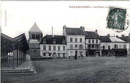 Viels Maisons Aisne Ancienne Halle Cycles épicerie Restaurant Roulotte 1911 état Superbe - Frankrijk