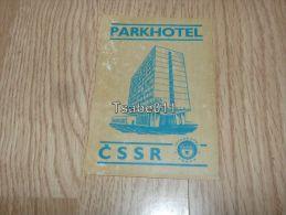 Parkhotel Interhotel Praha Czech Republic Kofferanhänger Luggage Tag Hotel Label Hotel-Aufkleber - Hotel Labels