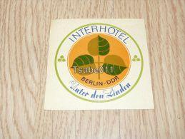 Interhotel Unter Den Linden Berlin Germany Kofferanhänger Luggage Tag Hotel Label Hotel-Aufkleber - Hotel Labels