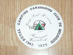 Royal Camping Caravaning Club De Belgique Camp Paul Rosmant Kofferanhänger Luggage Tag Hotel Label Hotel-Aufkleber - Hotel Labels