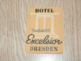 Hotel Excelsior Dresden Germany Kofferanhänger Luggage Tag Hotel Label Hotel-Aufkleber - Hotel Labels