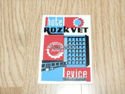 Hotel Rozkvet Levice Slovakia Léva Hungary Kofferanhänger Luggage Tag Hotel Label Hotel-Aufkleber Hotel štítok - Hotel Labels