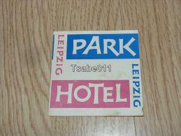 Park Hotel Leipzig Germany Kofferanhänger Luggage Tag Hotel Label Hotel-Aufkleber Hotel štítok - Hotel Labels