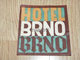 Hotel Brno Ceska Republika Kofferanhänger Luggage Tag Hotel Label Hotel-Aufkleber Hotel štítek - Hotel Labels
