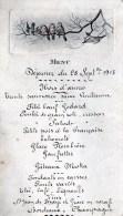 55Vo   Menu De 1913 Sur Support Cartonné Dessin Oiseaux Legerement Gauffré - Menu