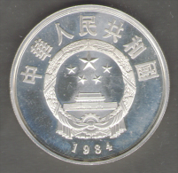 CHINA 5 YUAN TERRACOTTA ARMY 1984 PROOF AG SILVER - China