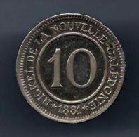 TRES RARE NICKEL DE LA NOUVELLE CALEDONIE 10 CENTIMES 1881  ESSAI QUALITE - Monetari / Di Necessità