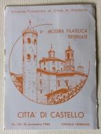 V Mostra Filatelica Tifernate Citta' Di Castello 13/11/1965 - Manifestazioni
