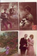 LOT   DE    50   CARTES   FANTAISIES - Postcards