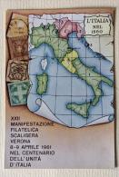 XXII Manifestazione Filatelica Scaligera Verona 8/9 Aprile 1961 - Manifestazioni