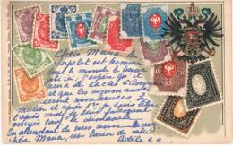 Rusia. Postal Con Sellos De Rusia Y Circulada Con Sello De Belgica - Rusia