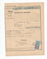 Récépissé De Versement , Chemins De Fer De L'état , 1924 , Timbre Fiscal - Invoices & Commercial Documents