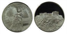 AG00050 ACROPOLE - UNESCO - ATHENS - ATHENES - 1977 - GRECE (Ag34g) Caryatide Au Revers - Jetons & Médailles