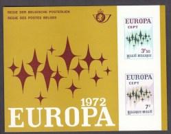 EUROPA CEPT-Belgio 1972 Foglietto (ref 364) - Europa-CEPT