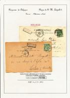 224/23 - Collection Lesaffre - Griffe De Gare De POTTES Sur 2 Cartes Postales TP Armoiries TOURNAI Station 1903/05 - Poststempel
