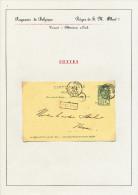 225/23 - Collection Lesaffre - Griffe De Gare De POTTES Sur Entier Postal TP Armoiries TOURNAI Station 1900 - Poststempel