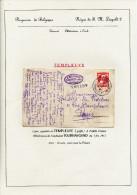 228/23 - Collection Lesaffre - Carte-Vue TP Grosse Barbe Ambulant TOURNAI-GAND 1912et Griffe De Gare TEMPLEUVE - Ambulants