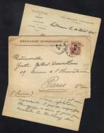 INDOCHINE - LAOS - VIENTIANE / 1926 LETTRE DU CABINET DU RESIDENT SUPERIEUR POUR PARIS (ref 6279aE) - Briefe U. Dokumente