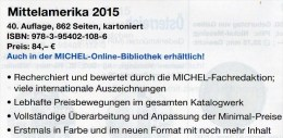 Mittel-Amerika Band 1 Teil II Michel Katalog Ü 1/2 Briefmarken 2015 Neu 84€ Mexiko Panama Honduras Guatemala Costa Rica - Tarjetas Telefónicas