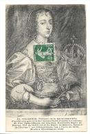 Cp, Peintures Et Tableaux, Portrait De La Reine Henriette D´après Un Tableur De Van Dyck, Voyagée - Pittura & Quadri
