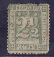 Hambourg  Armoireries   2 1/2 Vert  N°12 Dentelé - Hamburg