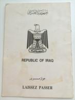IRAQ (LAISSEZ PASSER) - Passport Passeport Reisepass - Historische Documenten