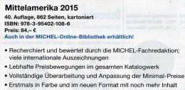 Mittel-Amerika Band 1 Teil II Michel Katalog Ü 1/2 Briefmarken 2015 Neu 84€ Mexiko Panama Honduras Guatemala Costa Rica - Mitteilung