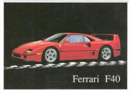 CARTE USA - FERRARI F 40 - 12,8 X 17,8 CM - Photo Ron KIMBALL , 1990 , TB - Motorsport
