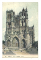 Cp, 80, Amiens, La Cathédrale, Voyagée 1906 - Amiens