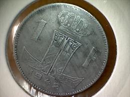 Belgique 1 Franc 1942 VL - 1934-1945: Leopold III