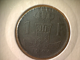 Belgique 1 Franc 1944 VL - 1934-1945: Leopold III