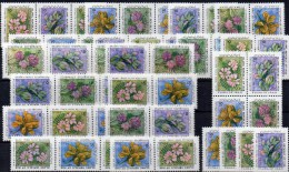 Blumen Neujahr 1990 Iran 2382/5,16xZD+ 4-Block ** 31€ Astragalus Bloque Flora Bloc New Year M/s Flower Se-tenant Bf Asia - Toxic Plants