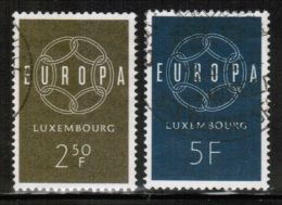 CEPT 1959 LU MI 609-10 USED LUXEMBOURG - 1959