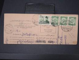 EGYPTE- Bulletin D ´expédition Colis Postaux En  1952   A Voir  LOT P4635 - Covers & Documents