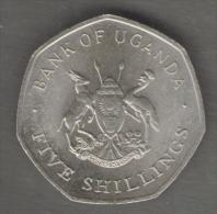UGANDA 5 SHILLINGS 1987 - Ouganda