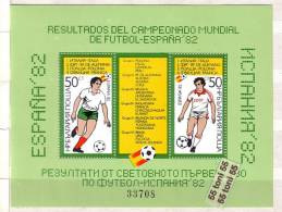 Bulgaria / Bulgarie 1982 FOOTBALL- WF Spain ( III ) S/S – MNH - Blocks & Sheetlets