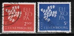 CEPT 1961 LU MI 647-48 USED LUXEMBOURG - 1961